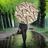 Peacock Tropical Flower Pattern Umbrella