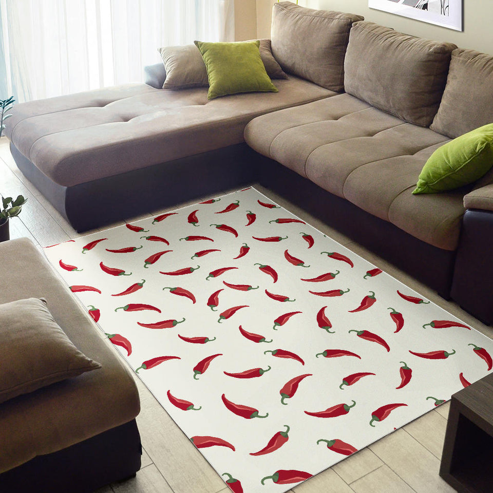 Chili Peppers Pattern Area Rug