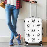 Cute french bulldog paw pattern Luggage Covers
