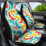 Colorful Moon Pattern Universal Fit Car Seat Covers