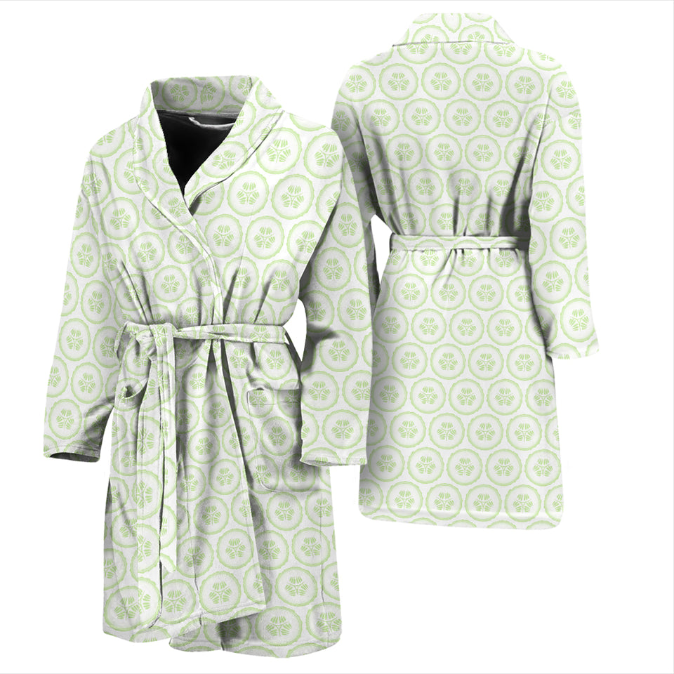 Cucumber Pattern Background Men'S Bathrobe