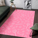 Sweet Candy Pink Background Area Rug