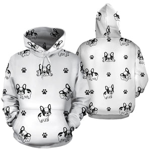 Cute french bulldog paw pattern Pullover Hoodie