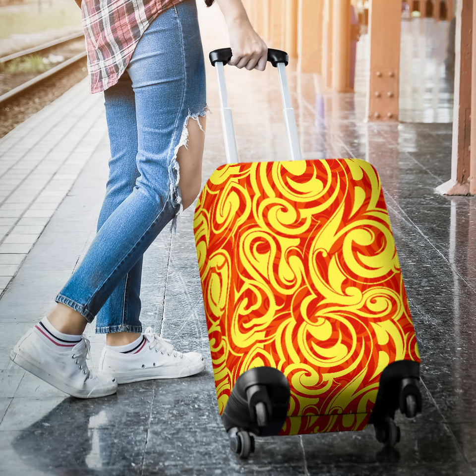Fire Flame Design Pattern Luggage Covers
