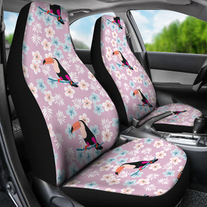 Beautiful Toucan Flower Leaves  Universal Fit Car Seat Covers