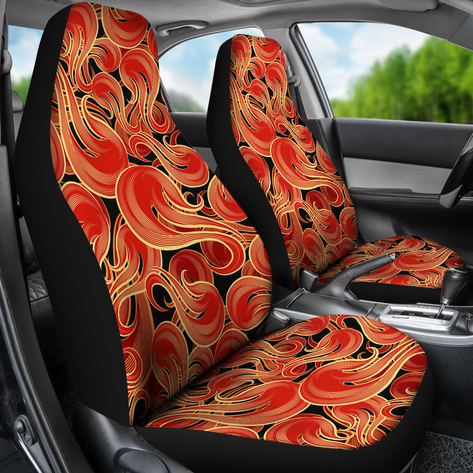 Fire Flame Pattern Universal Fit Car Seat Covers