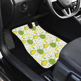 Durian Pattern Background Front Car Mats