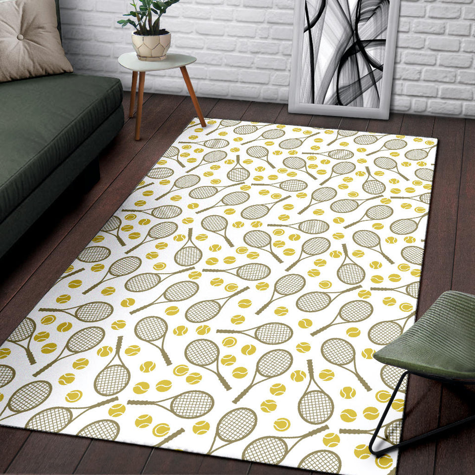 Tennis Pattern Print Design 02 Area Rug