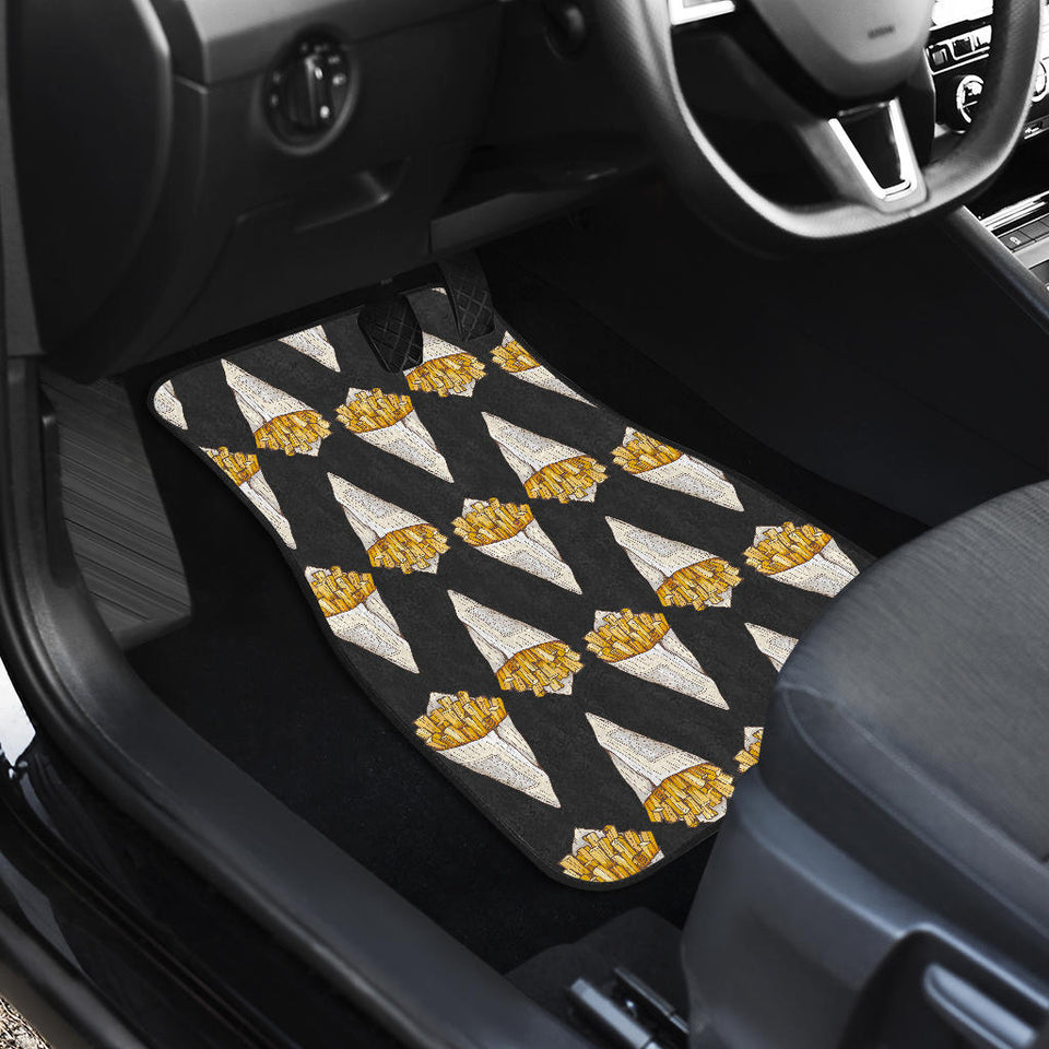 French fries dark background Front Car Mats