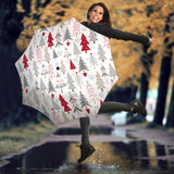 Cute Christmas tree pattern Umbrella