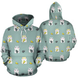Cute Hamster Cheese Pattern Men Women Pullover Hoodie