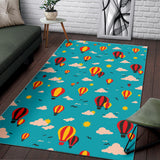 Hot Air Balloon Sky Pattern Area Rug