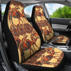 Camel Polynesian Tribal Design Pattern Universal Fit Car Seat Covers