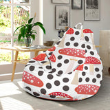 Red mushroom dot pattern Bean Bag Chair