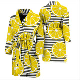 Slice Of Lemon Design Pattern Men'S Bathrobe