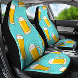 Beer Pattern Green Background  Universal Fit Car Seat Covers