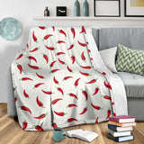 Chili Peppers Pattern Premium Blanket