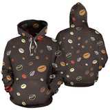 Coffee bean leave pattern Pullover Hoodie
