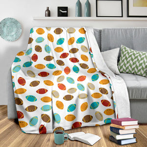 Colorful american football ball pattern Premium Blanket