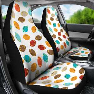 Colorful American Football Ball Pattern Universal Fit Car Seat Covers