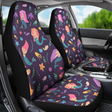 Beautiful Mermaid Fish Jellyfish Algae Other Marine World Universal Fit Car Seat Covers