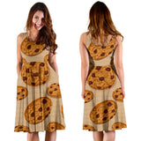 Cookie pattern Sleeveless Midi Dress