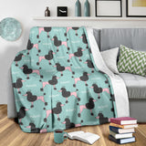 Poodle Dog Green Background Premium Blanket