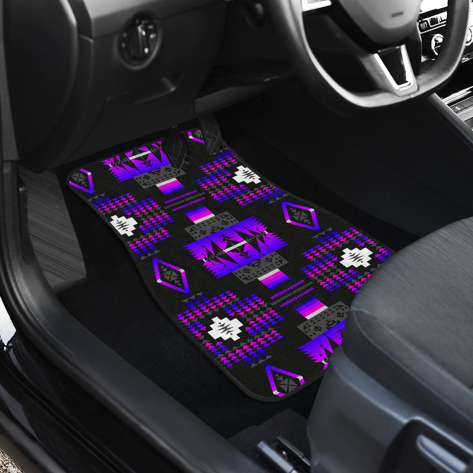 Midnight Purple Front Car Mats (Set Of 2)