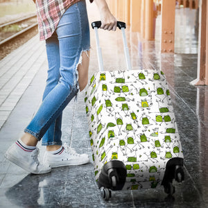 Sketch Funny Frog Patternsketch Funny Frog Pattern Luggage Covers Luggage Covers
