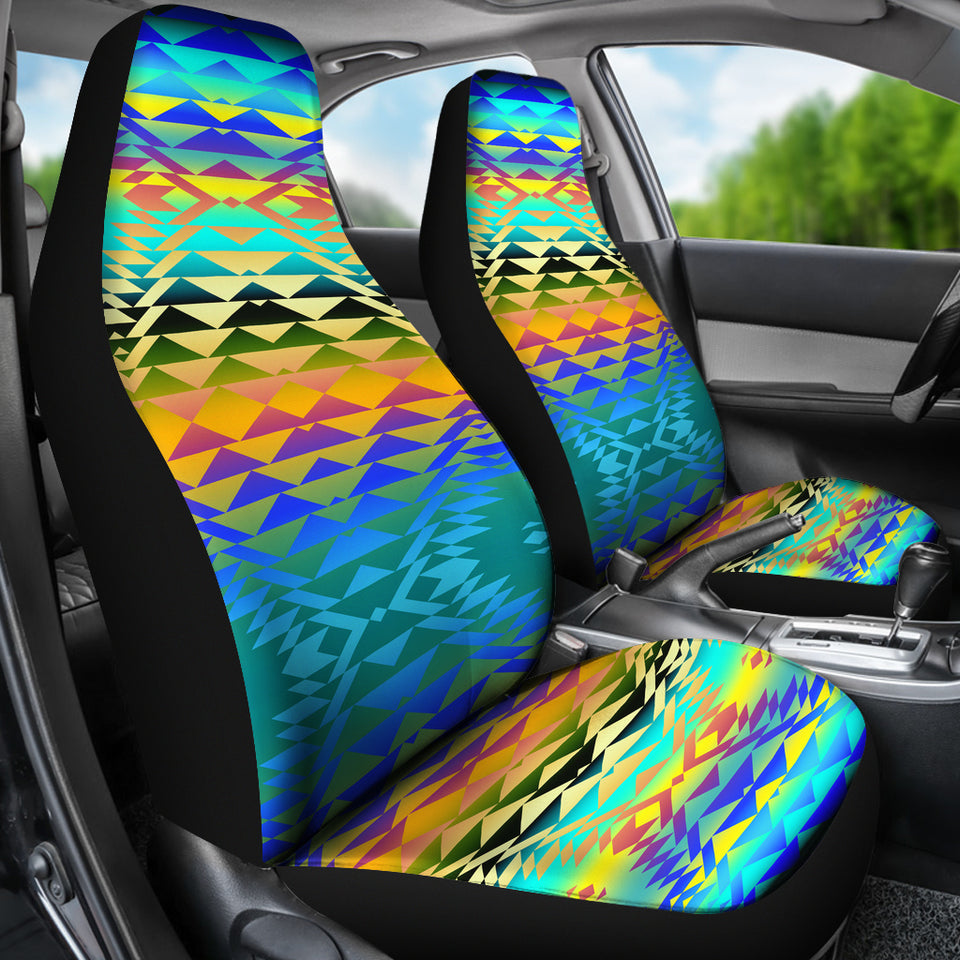 Taos Frost Set Of 2 Car Seat Covers