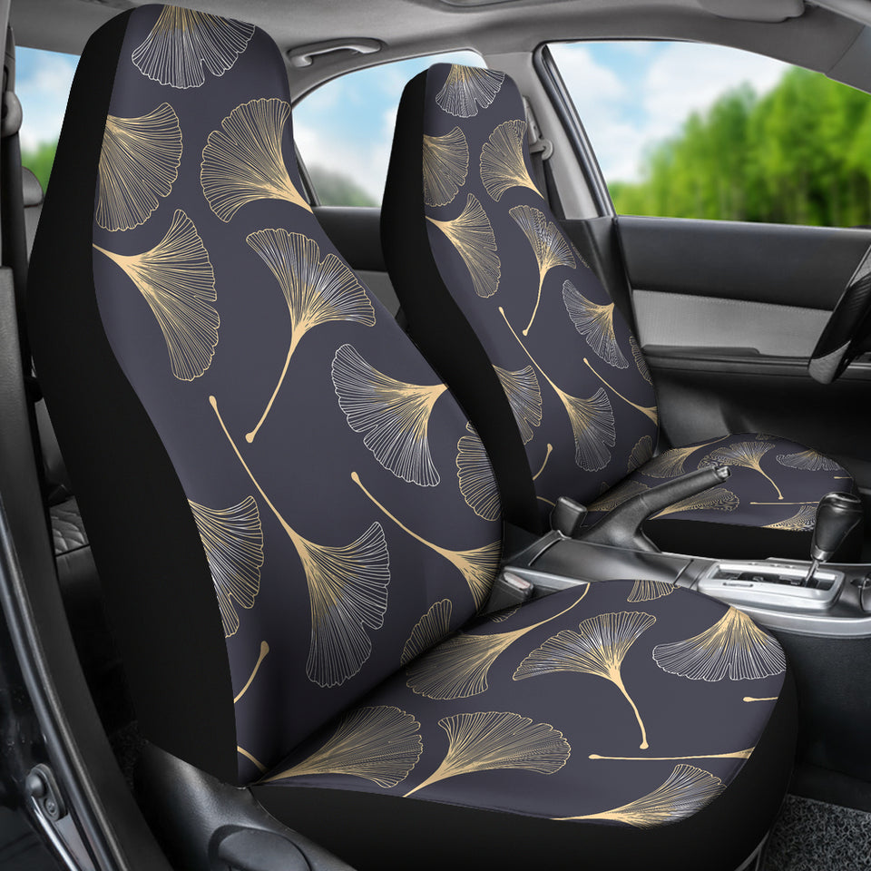 Gold Ginkgo Leaves Universal Fit Car Seat Covers