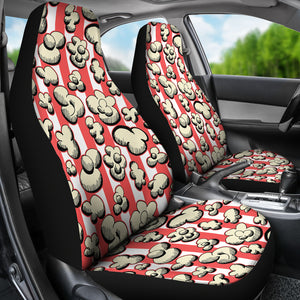 Popcorn Pattern Print Design 05 Universal Fit Car Seat Covers