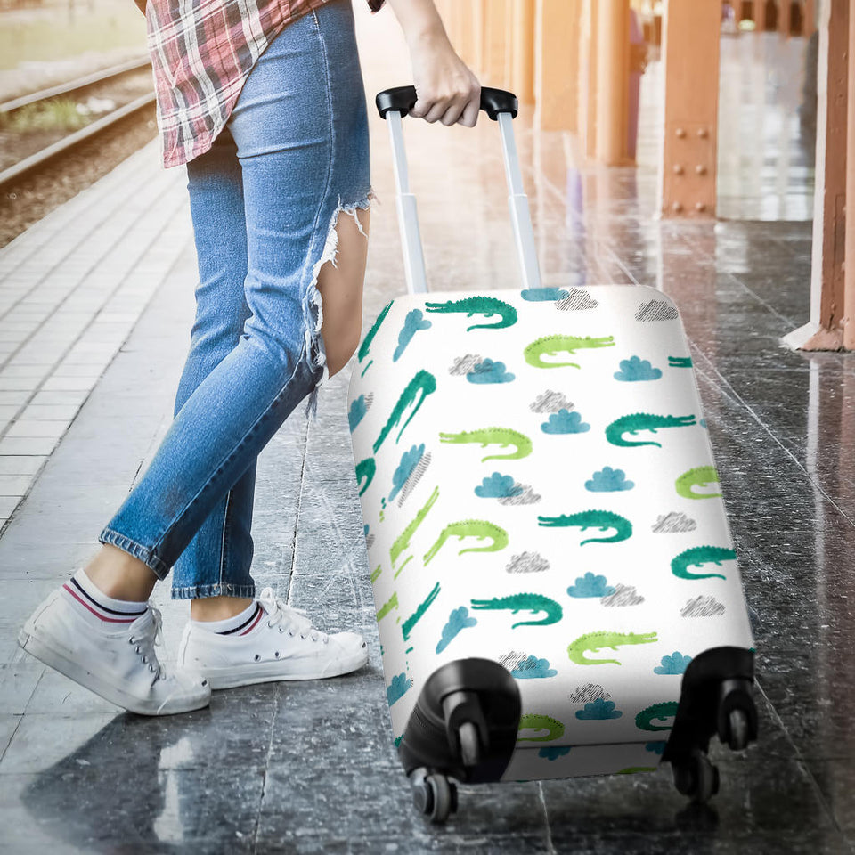 Watercolor Crocodile Pattern Luggage Covers