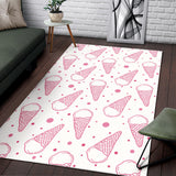 Hand drawn ice cream pattern Area Rug