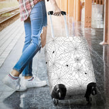 Spider Web Cobweb Pattern White Background Luggage Covers