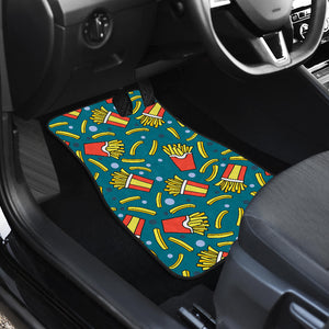 French Fries Red Paper Box Pattern Front Car Mats