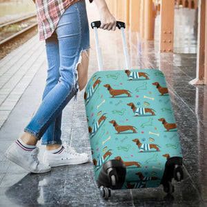 Dachshund decorative background Luggage Covers