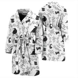 Crows Floral Wreath Rabbit Pattern Men'S Bathrobe