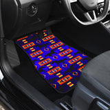 Seven Tribes Blue Horse Front Car Mats (Set Of 2)