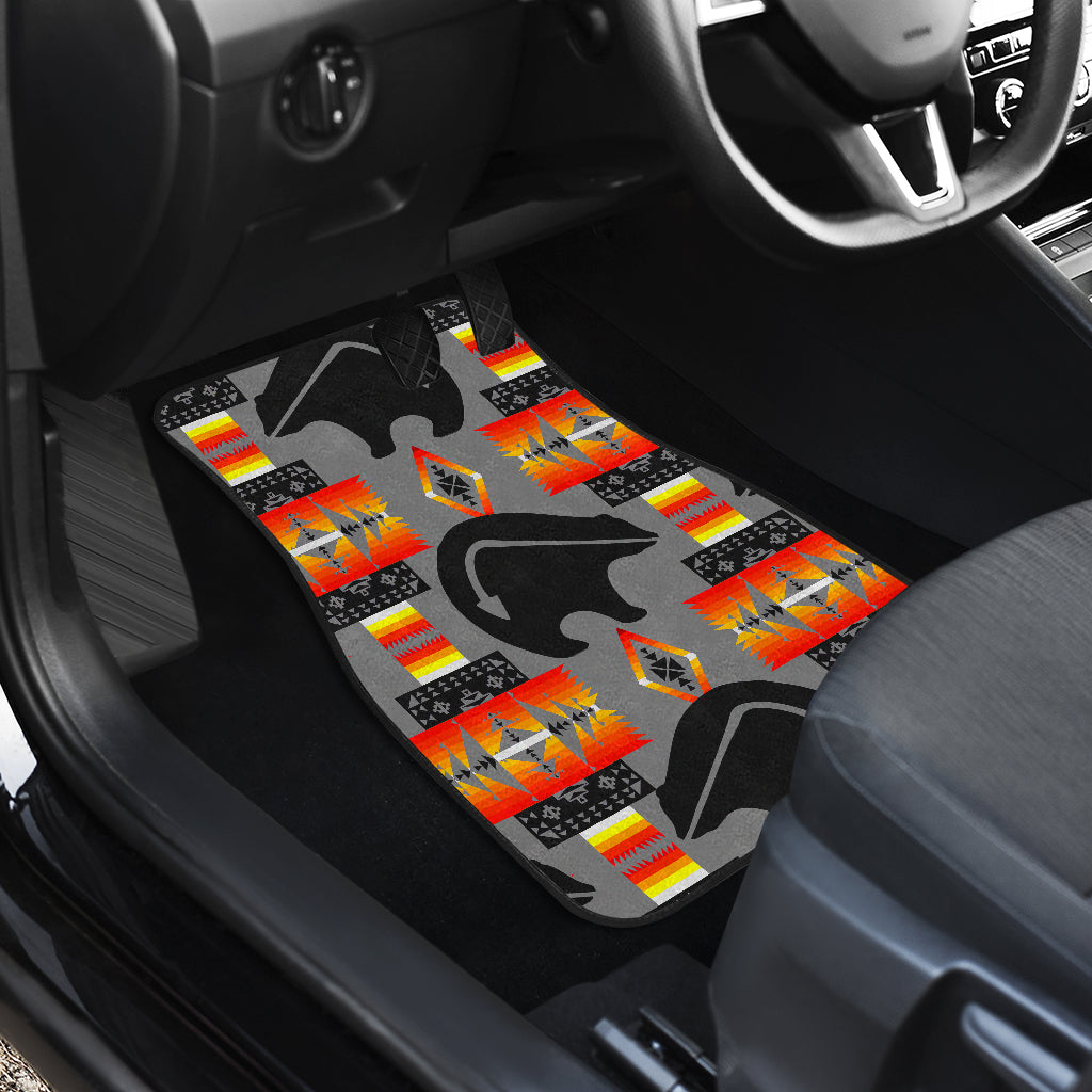 Thunderbear Gray Front Car Mats (Set Of 2)