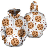 chocolate chip cookie pattern Pullover Hoodie