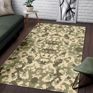 Light Green Camo Camouflage Pattern Area Rug