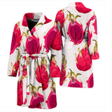 Dragon Fruits Design Pattern Men'S Bathrobe