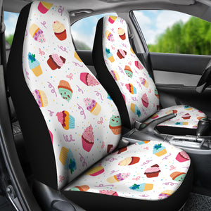 Cake Cupcake Design Pattern Universal Fit Car Seat Covers