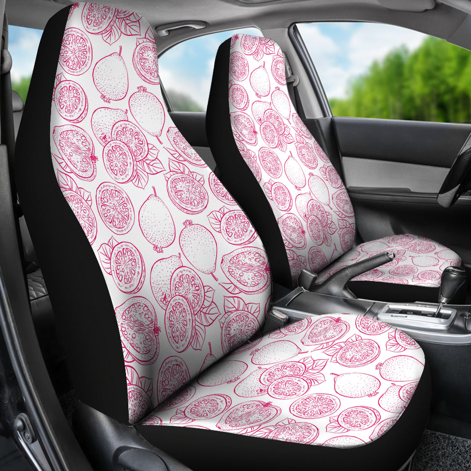 Sketch Guava Pattern Universal Fit Car Seat Covers