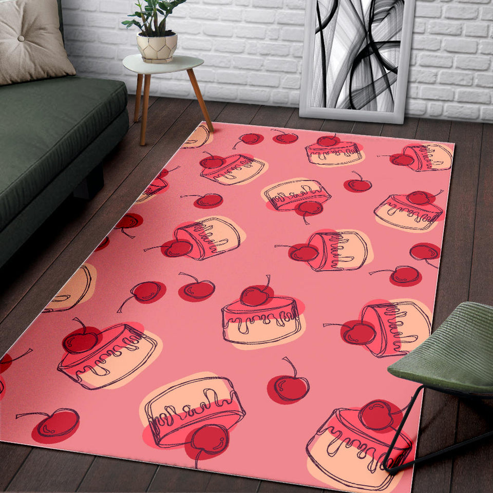 Cake Cherry Pattern Area Rug