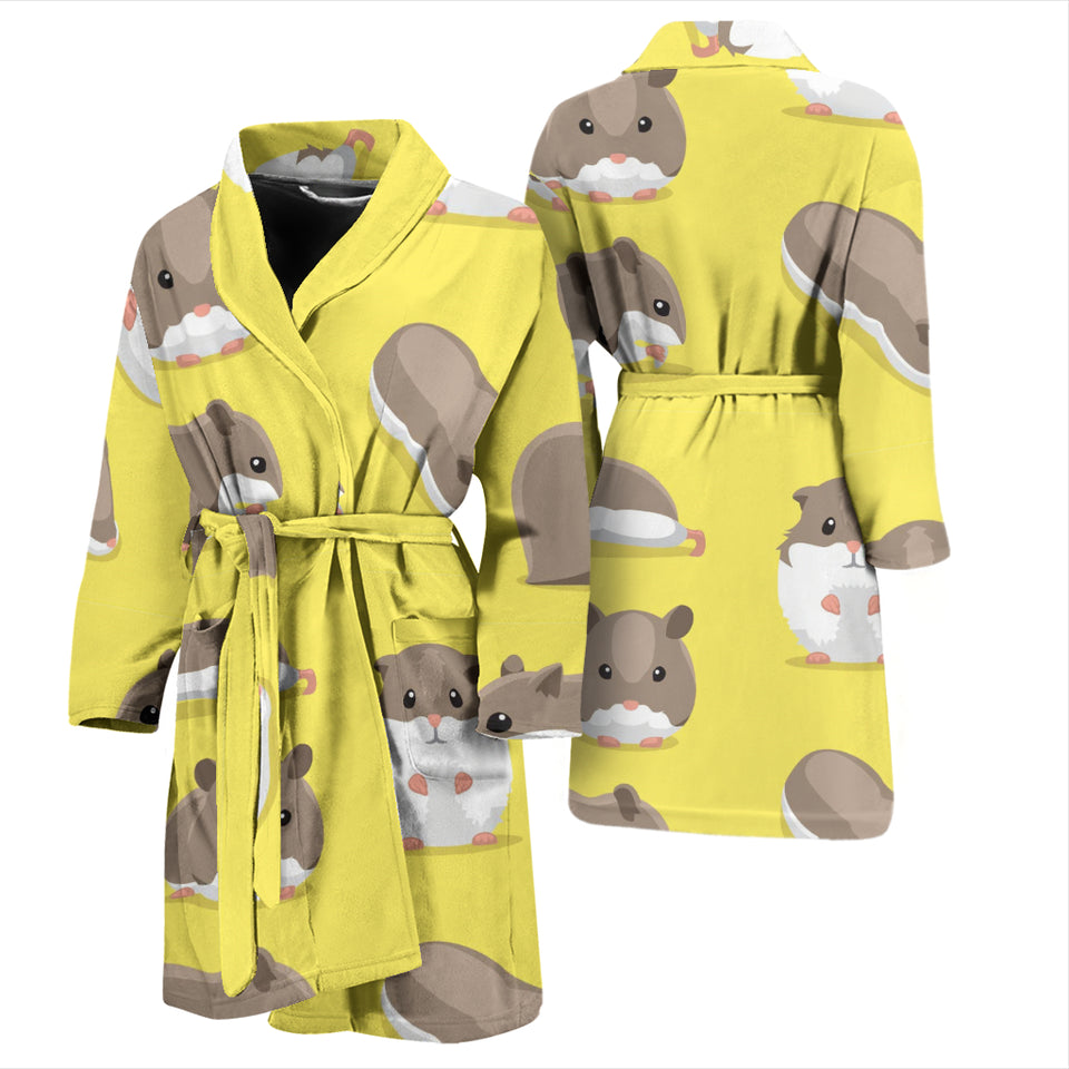 Cute Hamster Pattern Men'S Bathrobe