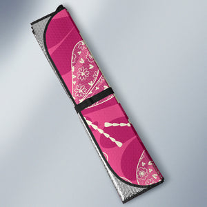 Beautiful Dragonfly Pink Background Car Sun Shade