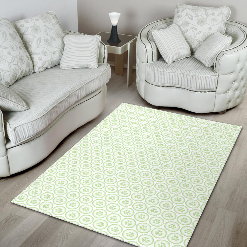 Cucumber pattern background Area Rug