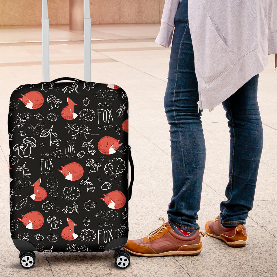 fox sleeping fox pattern Luggage Covers